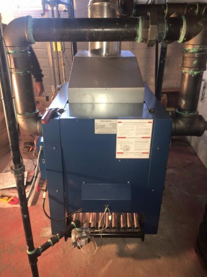 Utica boiler heat exchanger