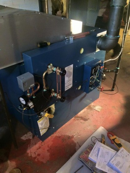 Utica boiler heat exchanger side view