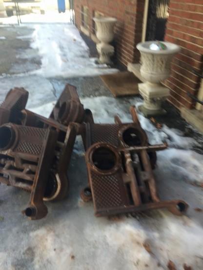 old boiler heat exchanger